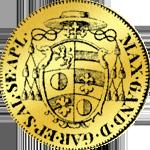 Goldmünze aus Salzburg aus dem Jahr 1671