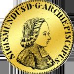 Goldmünze aus Salzburg von 1756