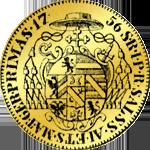 Salzburger Dukaten Goldmünze 1756