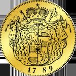 Dukat Goldmünze 1789