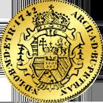 Siebenbürger Dukaten 1742 aus Gold