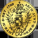 Doppeldukat aus Gold 1799