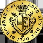 Brab Souveraindor Goldmünze 1750
