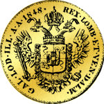 Goldmünze Kaiserlicher Souveraindor 1848