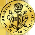 Goldmünze Souveraindor 1749