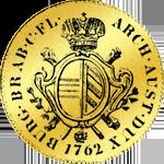 Goldmünze Souverain 1762