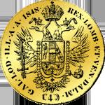 Goldmünze 4 fach Dukat Österreich 1848