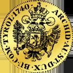 Goldmünze Dukat Böhmen 1740