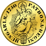 Goldmünze Ungarn Dukat 1750