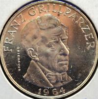 25 Schilling Silbermünze Franz Grillparzer