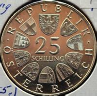 Grillparzer Schilling Silbermünze Österreich