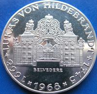 25 Schilling Silbermünze Lukas von Hildebrandt