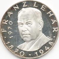 25 Schilling Silbermünze Franz Lehar