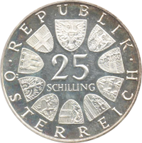 25 Schilling Münze Franz Lehár