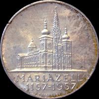 25 Schilling Silbermünze Mariazell