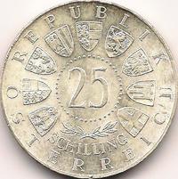 Prinz Eugen von Savoyen Schilling Silbermünze Österreich