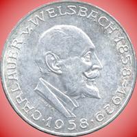 25 Schilling Silbermünze Carl Auer Welsbach