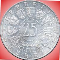 25 Schilling Münze Carl Auer von Welsbach in Silber