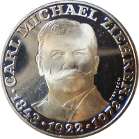 25 Schilling Silbermünze Carl Ziehrer