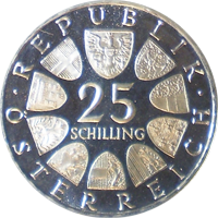 25 Schilling Münze Carl Ziehrer