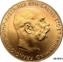 100 Kronen Österreich in Gold
