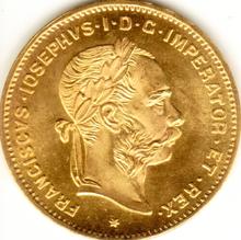 Österreichische 4 Florin Münze aus Gold