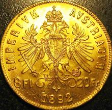 8 Florin Goldmünze