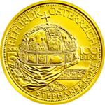 100 Euro Goldmünze Stephanskrone von Ungarn, Österreich