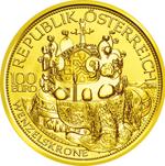 100 Euro Goldmünze Wenzelskrone Österreich
