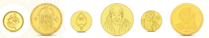 Indische Gedenkmuenzen aus Gold