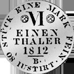 Westfälischer 1/6 Kurant-Taler 1812 Silber Münze