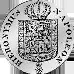 Rückseite Silber Münze 1/6 Westfälischer Kurant-Taler 1812
