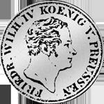 Silber Münze 1/12 Reichs oder Kurant Taler 1848