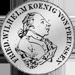 2/3 Reichs oder Kurant Taler 1792 Silber Münze