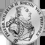 Silber Münze Konventions Speziestaler 1795