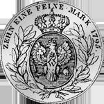 Konventions Speziestaler Rückseite Silber Münze 1795