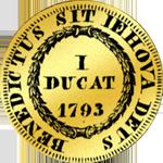 Dukaten Gold Münze 1793 Rückseite