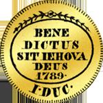 Dukaten Gold Münze 1789 Rückseite