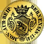 1741 Münze Dukaten Gold Rückseite