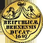 Münze Gold Dukaten 1697 Rückseite