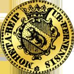 Gold halber Dukaten Münze 1719