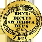 1789 Dukaten Gold Münze Doppel
