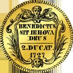 Gold Münze 1727 Doppel Dukaten