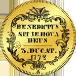 1772 Dreifacher Dukaten Gold Münze