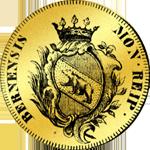1795 Dukaten Vierfacher Dupplone Doppel Gold Münze
