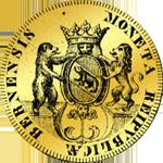 1701 Fünfacher Gold Dukaten Münze