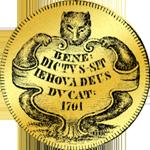 1701 Münze Gold Fünfacher Dukaten