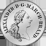 Brandenburger Konventions Spezies Taler 1774 Silber Münze