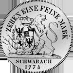 Rückseite Brandenburger Konventions Speziestaler Silber Münze 1774