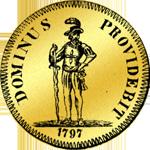 1797 Achtfacher Dukaten Gold Münze Bildseite